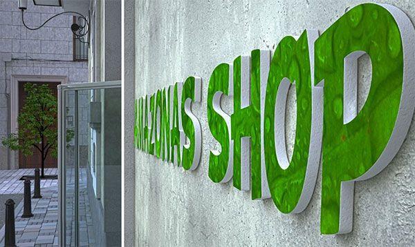 rótulo amazonas shop
