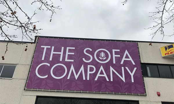 ROTULO DE LONA THE SOFA COMPANY