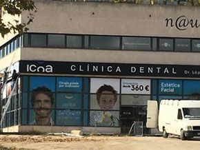 rótulo clínica dental