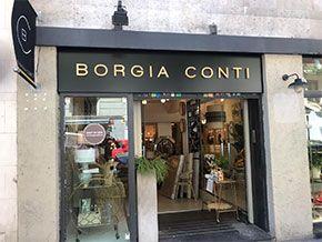 rotulo corporeo Borgia Conti con retroiluminación