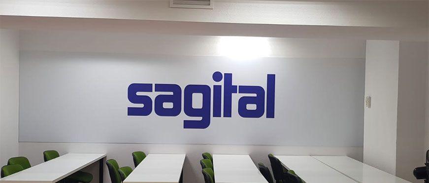 Rótulo logotipo Sagital