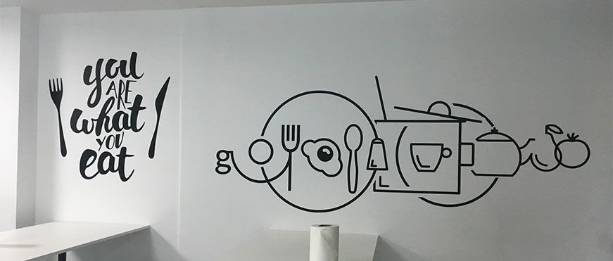 vinilos impresos pared