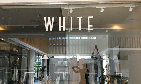 Rótulo Corpóreo retroiluminado comercio White